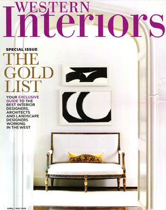 Image of magazine cover: Western Interiors 2009